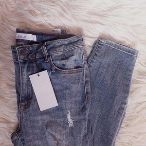 Denim - NWT Distressed Fishnet Denim Skinny Jeans